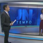 William Bonner erra nome de Maju e imita Cebolinha ao vivo no 'ornal Nacional'